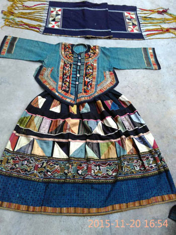 Yi Women's Costume from Malipo, Yunnan